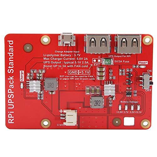 Bewinner UPS lithium batterij uitbreidingskaart voor Raspberry Pi draagbare voeding moederbord voor buiten UPS voeding 4 + 2LED voor opladen