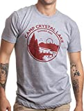 1980 Camp Crystal Lake Counselor | Funny 80s Horror Movie Fan Humor Joke T-Shirt-(Adult,M)