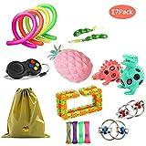 ZCOINS 17er Packung Bunte sensorische Fidget Spielzeug hilft reduzieren Zappeln durch Stress und...