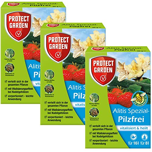 Gardopia Sparpaket Protect Garden Spezial-Pilzfrei Alitis (ehem.Bayer Aliette), 3 x (4x10g) Plus Zeckenzange mit Lupe