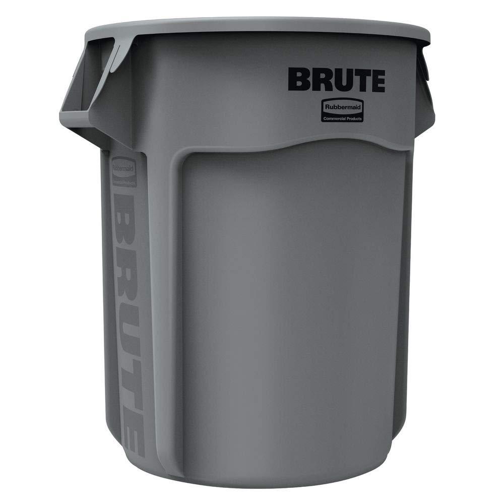 55 Gallon half Rubbermaid Brute Round Gray Max 79% OFF Trash Can