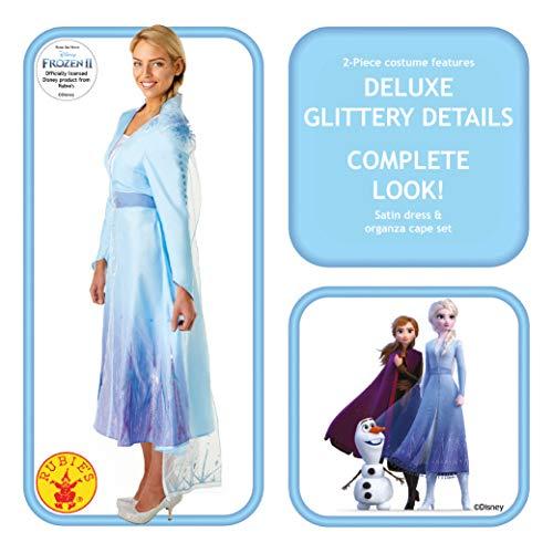 RUC7O #Rubie's Elsa Frozen2 Adulto Costume, Donna, Azzurro, S