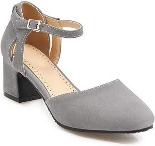 BalaMasa Womens APL11799 Pu Mary Jane Heels