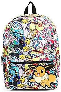 Pokemon Eevee Evolution All Over Print Backpack School Bag