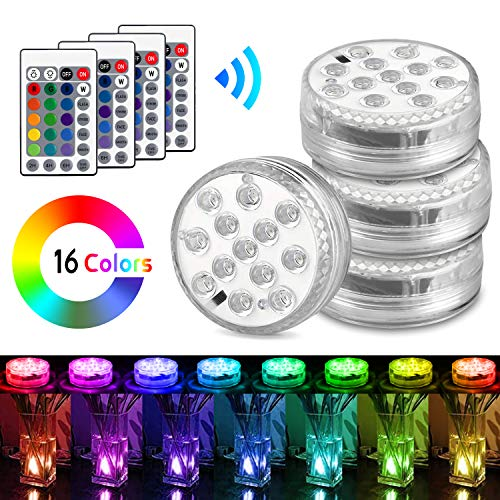 Luces Sumergibles, AODOOR Luz LED Impermeable, RGB
