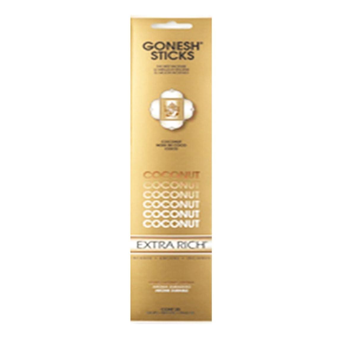 災難狂信者好みGonesh Incense Extra rich- Coconut ( 20?Sticks in 1パック) 2208084
