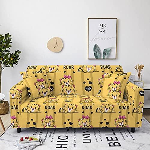 Gpink Sofá De Color De La Serie Animal, Toalla para Sofá para Mascotas Incluida, Bonita, Antideslizante, Cubierta Completa, Gran Toalla para Sofá Elástica para El Hogar
