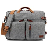 CoolBELL Convertible Backpack Messenger Bag Shoulder Bag Laptop Case Handbag Business Briefcase Multi-Functional Travel Rucksack Fits 17.3 Inch Laptop for Men/Women (Grey)