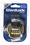 Wordlock PL-074-SN 4-Dial Combination Disc Padlock, Multicolor, 70mm