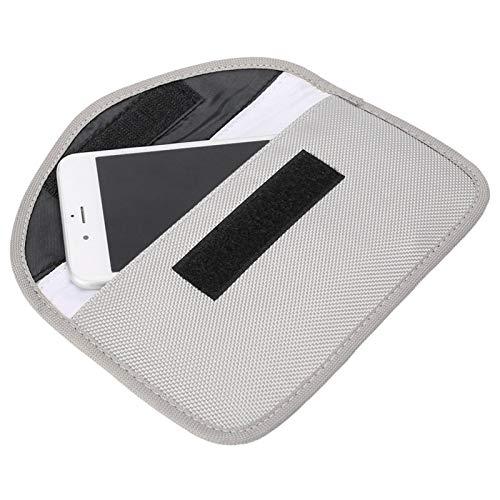 Bolsa anti-radiación RFID Bolsa anti-seguimiento de doble capa para anti-posicionamiento para anti-fuga de información electrónica para anti-radiación(silver white)