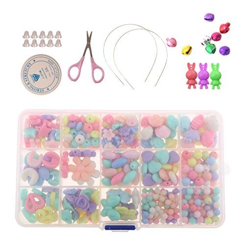 Cuentas Bolas de Acrílico de Color Mixto para DIY Bricolaje Manualidad para Hacer Collar Pulsera Bisutería Abalorios Joyería