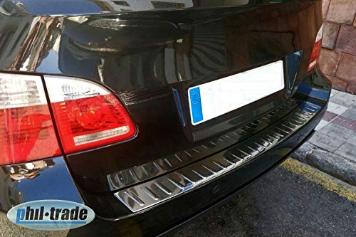 Recambo CT-LKS-0930 Protezione paraurti in Acciaio Inox Lucido per BMW Serie 5 E61 Touring, 2004-2010, Large
