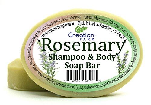 Handmade Rosemary Soap - 100% Pure Botanical Shampoo & Body Soap 8 oz (2 4...