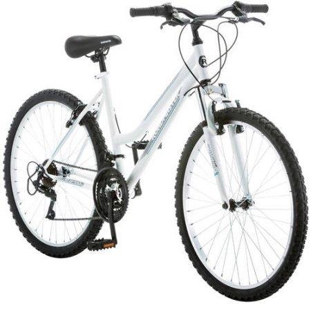 Roadmaster 26' Granite Peak Women's Bike   Rugged Trails and Path Riding (Black/White)