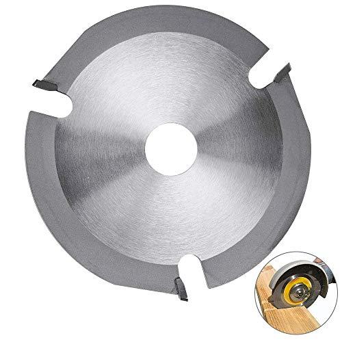 AFASOES slijpschijf metaal 125 hout cirkelzaagblad koolstofstaal zaagblad handcirkelzaag met 3 tanden voor haakse slijper hout carving disc om te snijden vormen