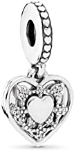 PANDORA My Wife Always Dangle Charm, Sterling Silver, Clear Cubic Zirconia, One Size