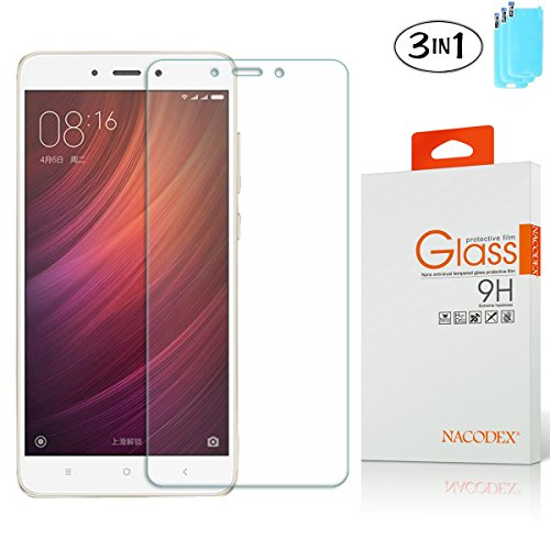 [3-Pack] For Xiaomi Redmi Note 4 Glass Screen Protector, Nacodex 9H Hardness Anti-Explosion Tempered Glass Screen Protector ([3-Pack] For Xiaomi Redmi Note 4)