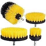Brocha de limpieza eléctrica Cepillo de pulido Pincel de perforación eléctrica Juego de cepillo de limpieza amarillo Kit de cepillo de limpieza 4pcs Durable