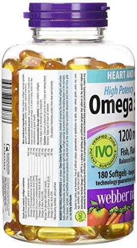 Webber Naturals Omega 3 6 9 Flaxseed Fish Borage Oils 1200 Mg