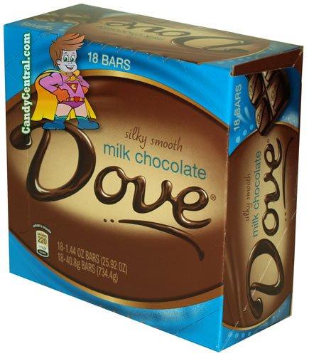 Dove Milk Chocolate Bar 1.44 oz (18 Ct)