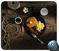 ベーコン&スクランブルエッグ朝食用マウスパッド滑り止めデスクトップマウスパッドゲーム用マウスパッド