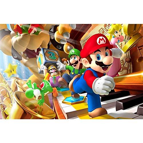 Super Mario 300/500 / 1000 pieza de gran formato de rompecabezas for adultos - Cada pieza es única, la tecnología significa piezas encajan perfectamente Descompresión anime de dibujos animados