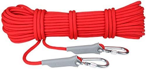 IG Corde auxiliaire d'escalade de sécurité résistante à l'usure, Tente de Sauvetage pour Alpinisme de 10 mm de diamètre, Corde de randonnée, Corde de Survie pour Auto-Sauvetage