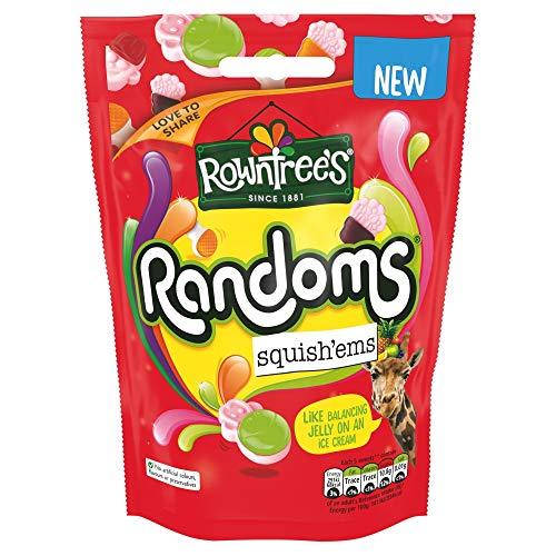 Rowntree's Randoms Squish'ems - 120g Beutel - Frucht & Schaumgummi