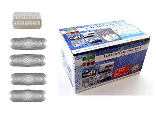 Luftentfeuchter Granulat (2A) Vliesbeutel 2 x Box + 4 x 1,2 kg Granulat Raumentleuchter Nachfüllpack Entfeuchter Bad Keller