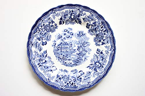 Churchill China Queens Tonquin Assiette Motif Chelsea Bleu/blanc 25 cm