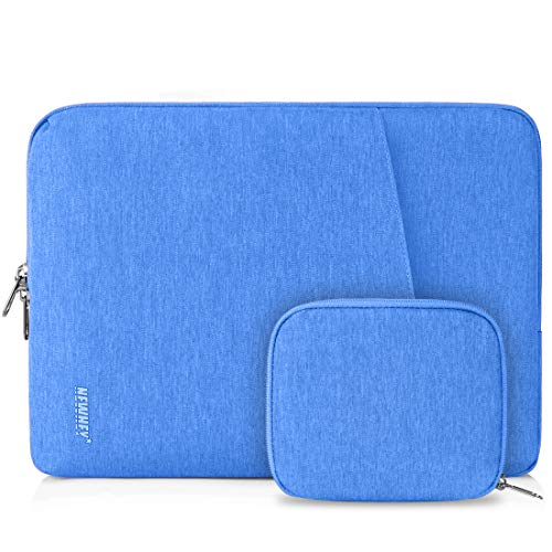 NEWHEY Laptop Sleeve Case 13-14 Inch Water Repellent Laptop Cover Bag Shock Resistant Notebook Protective Bag with Small Case Blue