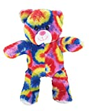 Tie Dye Psychedelic Rainbow Recordable Talking 8 Hipster Teddy Bear by BEARegards