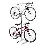 サンワダイレクト ロードバイク スタンド 2台 室内 自立式 無段階高さ調整1.2~2m ディスプレイスタンド 800-BYST6