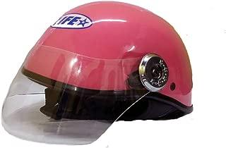 Kart Trade Life Glossy Half Face Helmet / Cap For Ladies / Gents,(Pink,M)