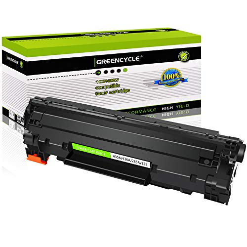 GREENCYCLE High Yield Compatible 35A CB435A Toner Cartridge Replacement for Laserjet P1002 P1003 P1004 P1005 P1006 P1007 P1009 Series Printers (Black, 1 Pack)