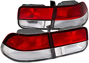 Spec-D Tuning LT-CV962RPW-RS Spec-D Tail Lights Red Clear Lens