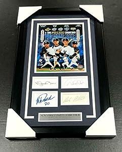 Derek Jeter Autographed Photo - Core 4 Four Reprint Posada Pettite Rivera 8x10 Fra - Autographed MLB Photos