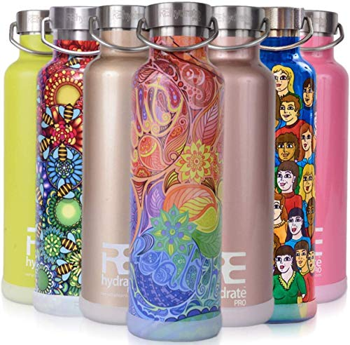 Rehydrate Pro (Zen 25oz Double-Insulated Stainless Steel Water Vacuum Bottle Flask -Compatible to...
