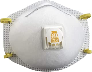3M 8511 Respirator, N95, Cool Flow Valve (10-Pack)