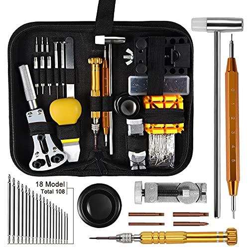 AneyWell Uhrenwerkzeug Set, 149tlg Uhrmacherwerkzeug Set Multi-Funktion Profi Uhren Reparatur Set Tragbar und Leicht Uhrmacherwerkzeug Set Profi für Reparatur und Anpassungsbedarf Ihrer Uhren.