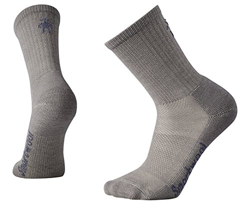 Smartwool Herren Hike Ultra Light Crew Sock, Medium Gray, L