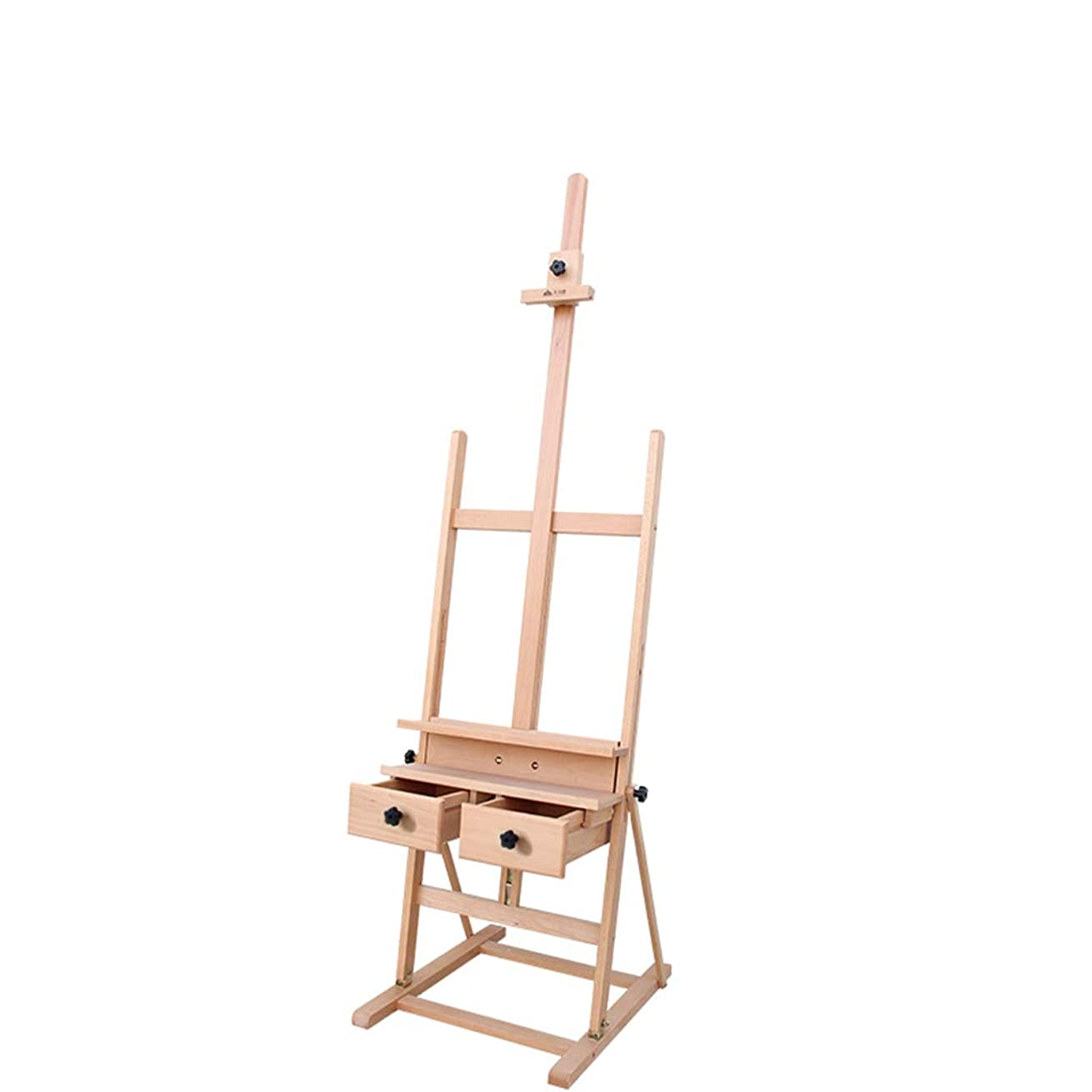 言い直すアルコールポインタSHWSM 持ち上がることおよび持ち上がることのための引出しが付いている木製の折るブラケット様式のスケッチのイーゼル、貯えること容易、47 * 59 * 160(212)cm イーゼル