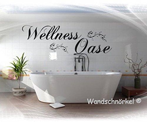 Wandtattoo Wellnessoase Wellness Oase Bad schlafzimmer Sauna Wohnzimmer Wandaufkleber VIELE FARBEN/GRÖßEN