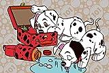 XXUREJK 101 Dálmatas, Puzzle Jigsaw 1000 Piezas para Adultos Juego Educativo Juguete Brain Challenge Rompecabezas para niños Juegos para niños Rompecabezas Familiar Regalo 38 x 26cm