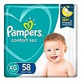 Fraldas Pampers Confort Sec XG 58 Unidades, Pampers, Xg (Extra Grande), pacote de 58