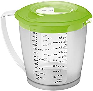 Westmark Multipurpose Measuring Cup and Mixing Pitcher with Splash Guard, 47-Ounce (Green)