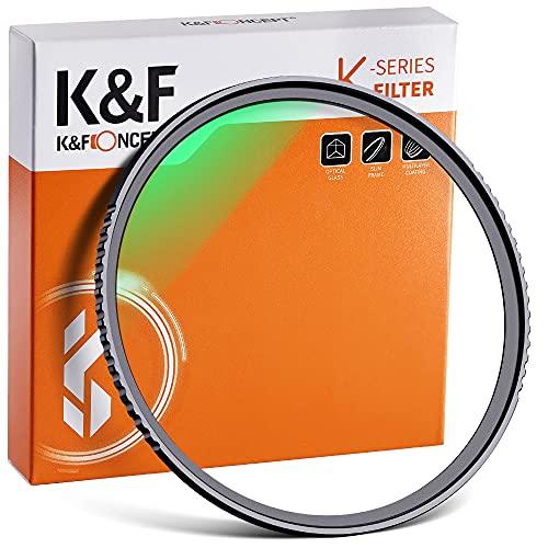 K&F Concept 55mm MC UV Protection Filter Slim Frame with Multi-Resistant Coating for Camera Lens