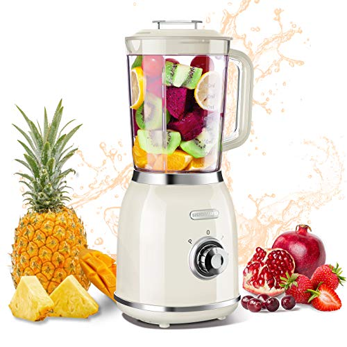 REDMOND Personal Blender for Shakes and Smoothies, Small Countertop Blender with 4 Sharp Blades, Smoothie Blender with 27 oz, 300W High-Speed Power,BPA-Free, Cream