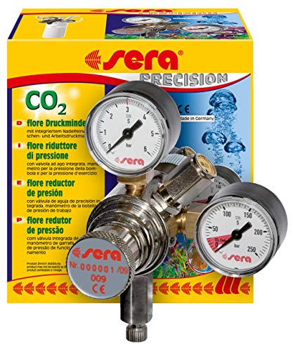 sera 08037 flore CO2-Druckminderer - Präzisionsdruckminderer für CO2-Flaschen mit außen liegendes Ventil, CO2 Anlage, Made in Germany