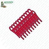 20 cuchillas de plástico para cortabordes Florabest con batería FAT 18 B3 - LIDL IAN 273039, Hueso